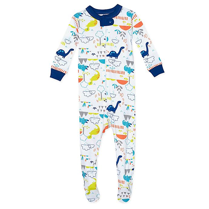 Alternate image 1 for Just Born® Dino Organic Cotton Sleep 'n Play in Blue/Green