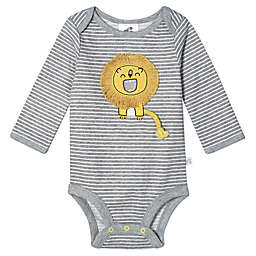 Just Born® 2-Piece Lion Organic Cotton Bodysuit and Pant Set in Grey