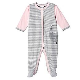 Just Born® Stripe Lamb Organic Cotton Sleep 'n Play in Pink/Grey