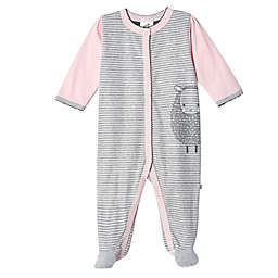 Just Born® Stripe Lamb Organic Cotton Sleep 'n Play in Pink/Grey