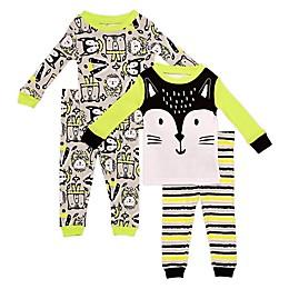 Night Life® 4-Piece Hedgehog Pajama Top and Pant Set in Grey