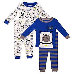 Night Life 4-Piece Blue Dog Toddler Pajama Set