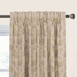 Clipperton Pinch Pleat/Back Tab Window Curtain Panel in Natural