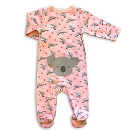 Modern Baby Koala Footie in Pink