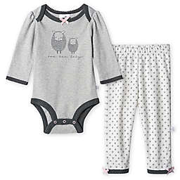 Just Born® 2-Piece Lamb Organic Bodysuit and Pant Set in Grey/White