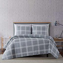 Truly Soft® Leon Plaid 2-Piece Twin XL Quilt Set in Grey
