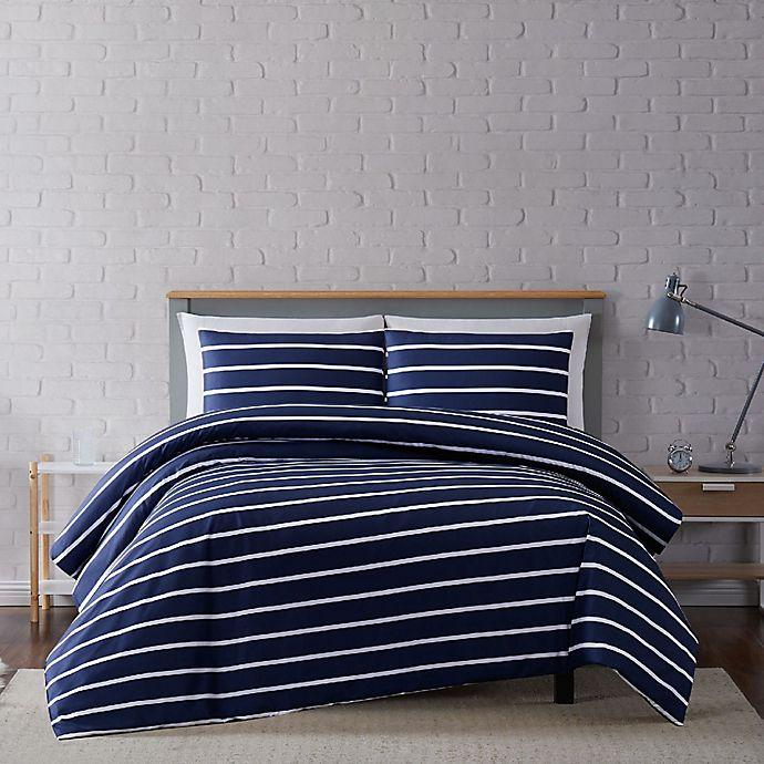 Alternate image 1 for Truly Soft® Maddow Stripe Duvet Set