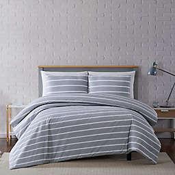 Truly Soft® Maddow Stripe 3-Piece Full/Queen Duvet Set in Grey