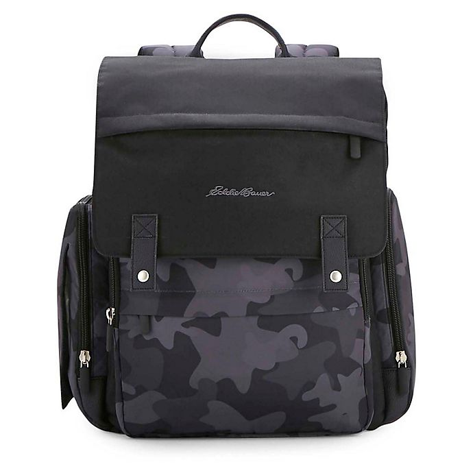 Alternate image 1 for Eddie Bauer® Places & Spaces Compass Diaper Backpack in Black