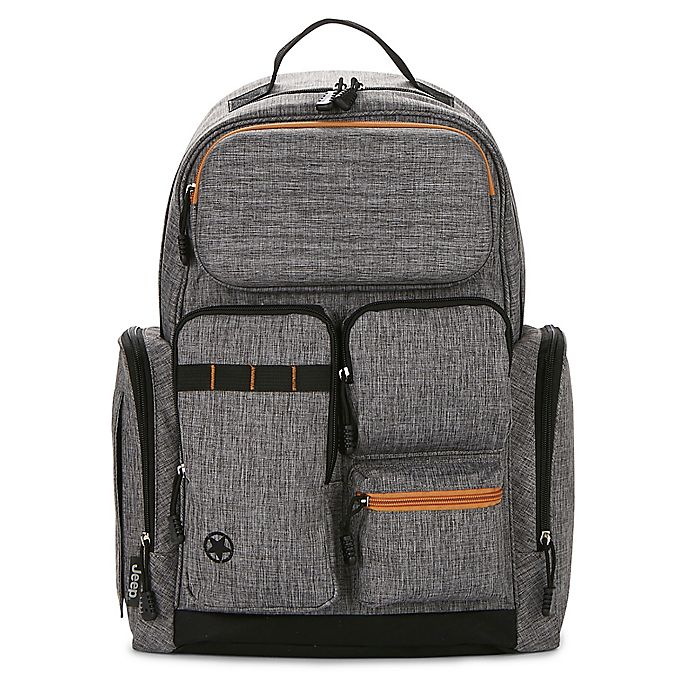 Alternate image 1 for Jeep® Adventurer's Diaper Backpack in Grey/Tan