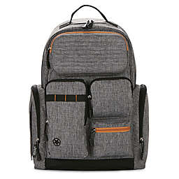 Jeep® Adventurer's Diaper Backpack in Grey/Tan