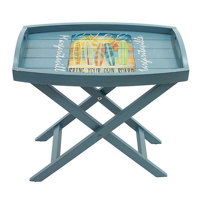 Alternate image 1 for Margaritaville® Folding Butler Side Table in Blue