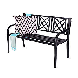 Vifah Paracelsus All-Weather Metal Garden Bench
