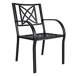 Vifah Paracelsus All-Weather Aluminum Outdoor Patio Chairs (Set of 2)