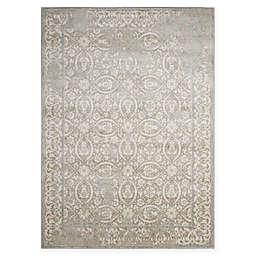 Nourison Euphoria Distressed Geometric Rug in Grey