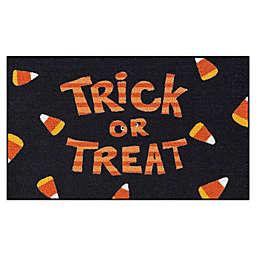 """Trick or Treat"" 20-Inch x 34-Inch Accent Rug in Black/Orange"