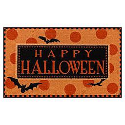 """Happy Halloween 20"""" x 34"""" Accent Rug in Orange/Black"""