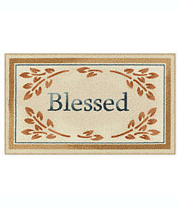 """Bee and Willow™ Home Tapete decorativo con frase """"Blessed"""", 50.8 x 86.36 cm en café bronceado"""