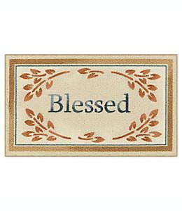 Tapete decorativo de nylon Bee and Willow™ Home Blessed, 50.8 x 86.36 cm color café bronceado