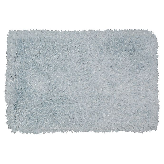 Alternate image 1 for Mohawk Home® Juliet 2'6 x 3'10 Metallic Shag Accent Rug in Ice Blue