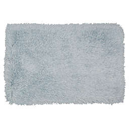 Mohawk Home® Juliet 2'6 x 3'10 Metallic Shag Accent Rug in Ice Blue