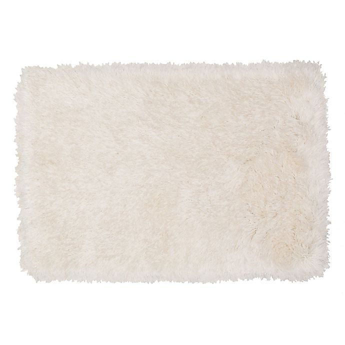Alternate image 1 for Mohawk Home® Juliet 2'6 x 3'10 Metallic Shag Accent Rug in White/Gold