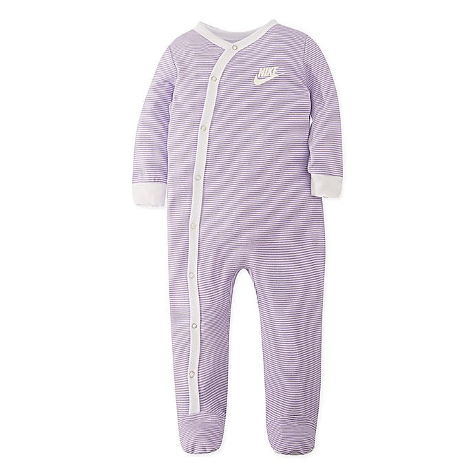 Alternate image 1 for Nike® Striped Footie in Lavender