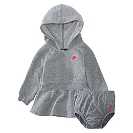 Nike® Sparkle Hooded Dress in Dark Heather Grey