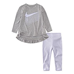Nike® 2-Piece Tunic and Shine Legging Set in Lavender Mist