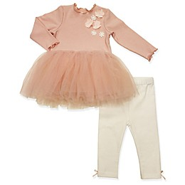 Clasix Beginnings™ by Minibasix® 2-Piece Tutu Top and Pant Set in Pink