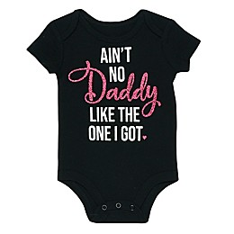 "Baby Starters® ""Ain't No Daddy"" Bodysuit in Black"