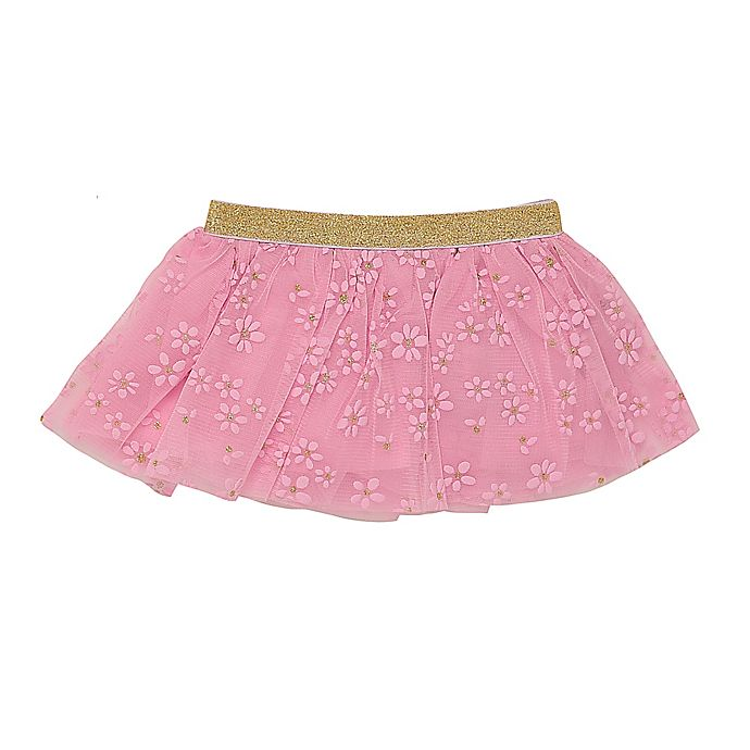 Alternate image 1 for Baby Starters® Gold Glitter Tutu Skirt in Pink
