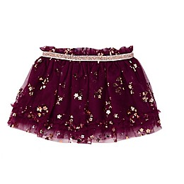 Baby Starters® Rose Gold Glitter Tutu Skirt in Purple
