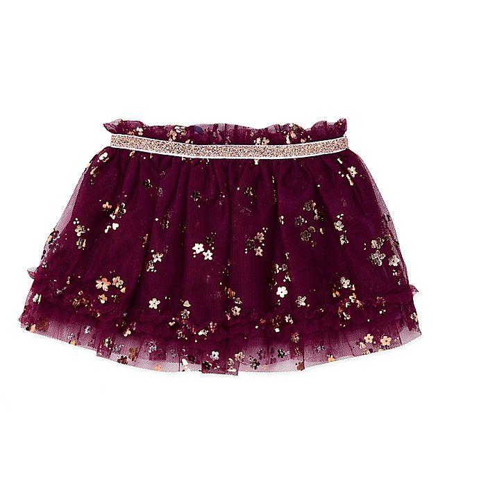 Alternate image 1 for Baby Starters® Rose Gold Glitter Tutu Skirt in Purple