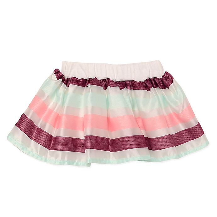 Alternate image 1 for Baby Starters® Stripe Organza Tutu Skirt in Ivory