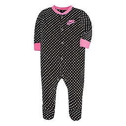 Nike® Newborn GFX Footed Coverall in Black