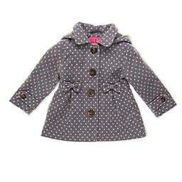 pink platinum® Grey Dot Toddler Coat