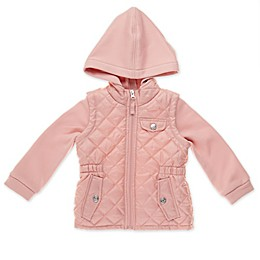 pink platinum® Quilted Hooded Toddler Jacket in Pink