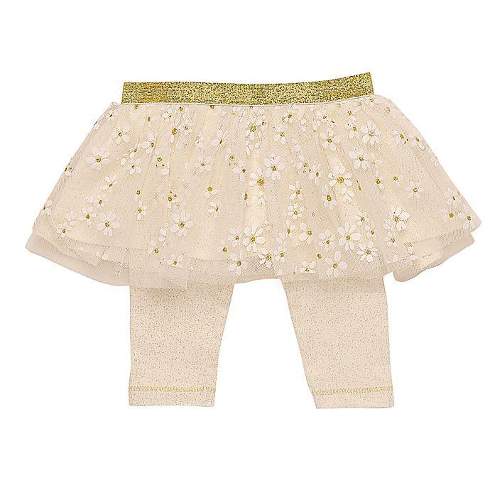 Alternate image 1 for Baby Starters® Daisy Tutu Leggings in Ivory