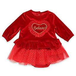 Baby Starters® 2-Piece Believe Velour Dress and Panty Set in Red