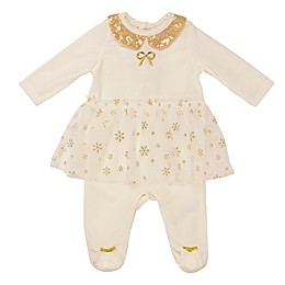 Baby Starters® Velour Skirted Coverall in Ivory