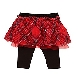 Baby Starters® Tartan Plaid Tutu Leggings in Red/Black