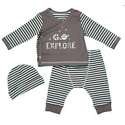 Baby Starters® 3-Piece Explore Top, Pant, and Hat Set in Black
