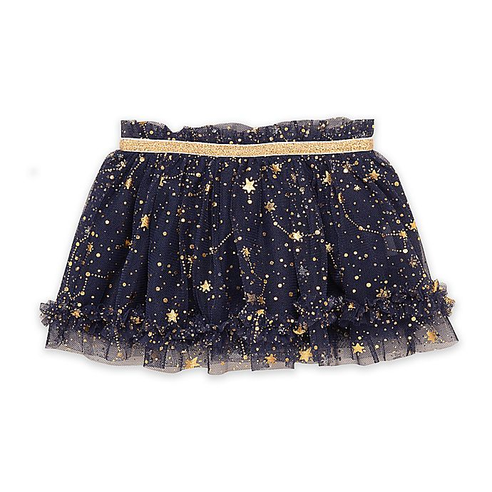 Alternate image 1 for Baby Starters® Foil Star Tutu in Navy