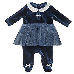 Baby Starters® Snowflake Tutu Footie in Navy