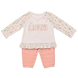 "Baby Starters® 2-Piece ""Loved"" Top and Pant Set"