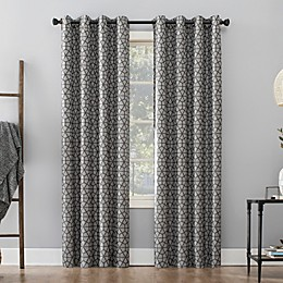 Sun Zero® Burke Twill Mosaic Grommet Thermal Blackout Curtain Panel