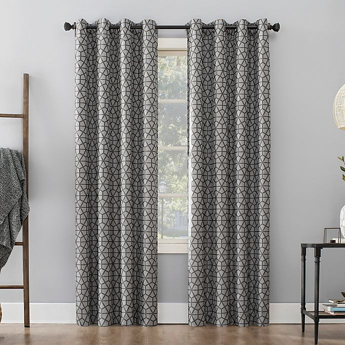 Alternate image 1 for Sun Zero® Burke Twill Mosaic Grommet Thermal Blackout Curtain Panel