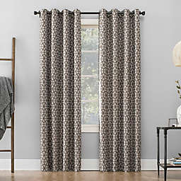 Sun Zero™ Burke Twill Mosaic 95-Inch Grommet Thermal Blackout Curtain Panel in Sable