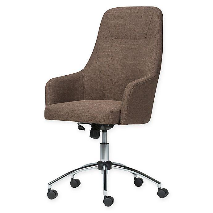 Alternate image 1 for Simpli Home™ Linen Upholstered Office Chair
